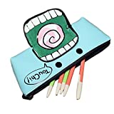 D.Catman Cool Funny Little Monsters Big Mouth Schoolbag Student PU Pencil Case (Blue)