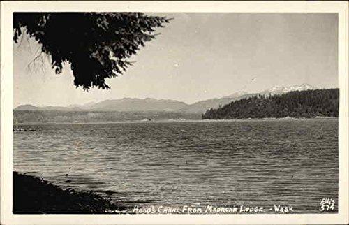 Hoods-Canal-from-Madrona-Lodge-Washington-Original-Vintage-Postcard