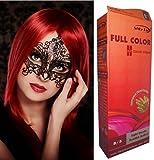 teinture coloration cheveux permanente goth emo elfe cosplay rouge feu vif beaut et. Black Bedroom Furniture Sets. Home Design Ideas
