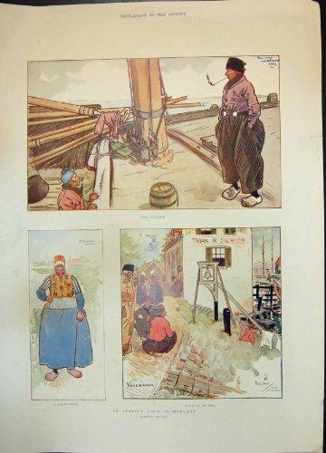 Gehendes Marken Frauen-Kostüm Künstler Ausflug-Hollands, das Dyke1905 Sitzt