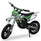 NEU Kinder Mini Crossbike Gazelle ELEKTRO 500 WATT inklusive verstärkter Gabel Dirt Bike Dirtbike Pocket Cross grün