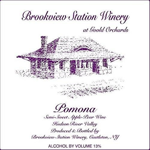 "Nv Brookview Station ""Pomona"" Semi-Sweet Apple-Pear Wine 750 Ml"