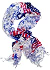 USA Flag Scarf Patriotic Red White and Blue American Flag Scarf