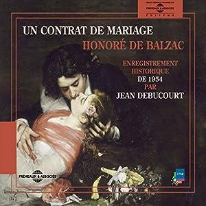 Un contrat de Mariage : enregistrement historique de 1954 Audiobook