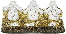 Sitting Buddha Statue See No Evil Hear No Evil Speak No Evil Figure D16126