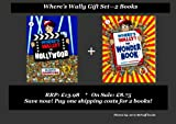 Martin Handford WHERE's WALLY 4 & 5 BOOK SET / COLLECTION - 2 Large Edition Picture Books : 1. Where's Wally In Hollywood 2. Where's Wally The Wonder Book (RRP: £13.98) (Large Edition)