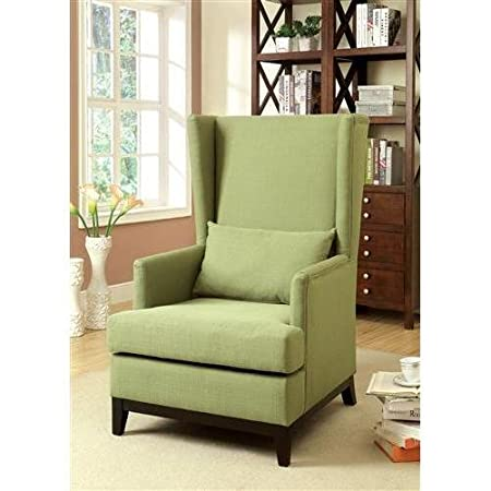 Mwave IDF-AC6996GR Edison Modern Accent Chair, Green, Material: Wood, wood veneers, fabric, foam padding, Finish: Green
