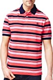 Blue Harbour Pure Cotton Varied Striped Polo Shirt [T28-6524B-S]