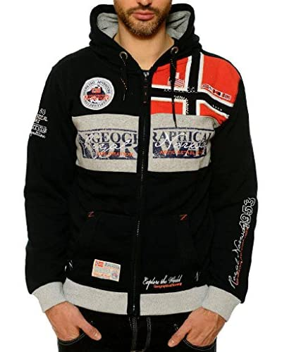 Geographical Norway Sudadera con Cierre Flyer Negro
