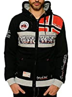 Geographical Norway Sudadera con Cierre Flyer (Negro)