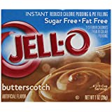 Jell-O Sugar-Free Instant Pudding & Pie Filling, Butterscotch, 1-Ounce Boxes (Pack of 24) ~ Jell-O