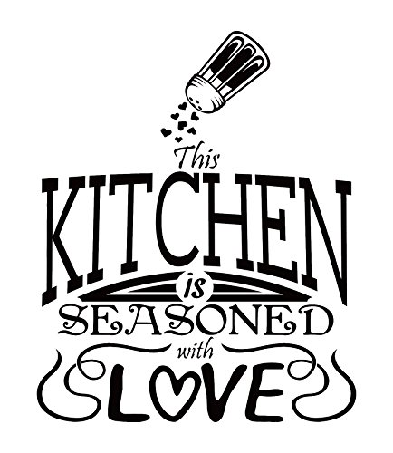 Kitchen Decals for Wall: Home Kitchen Design Ideas/Kitchen Wall Decals Quotes/Word Art Wall Decorations. High Quality Vinyl Wall Art Decor For Kitchen Dining. A Wall Decal Stickers Made In USA - WHITE