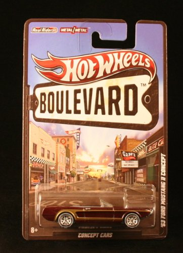 '63 FORD MUSTANG II CONCEPT * CONCEPT CARS * Hot Wheels 2012 BOULEVARD SERIES 1:64 Scale Die-Cast Vehicle - 1