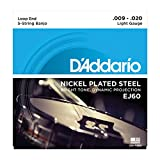 D\'Addario EJ60 Jeu de cordes en nickel pour Banjo 5 cordes 9-20 Light