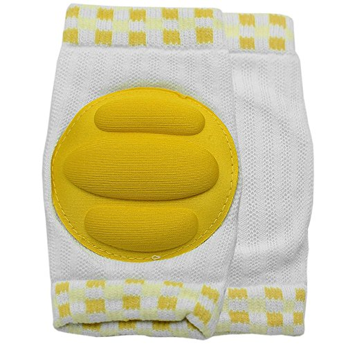 New Kid Baby Mesh Crawling Knee Pads Toddler Elbow Pads 805673 Yellow - 1