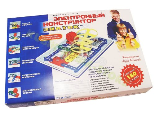 Electronic Children Construction Set 180 Schemes Znatok