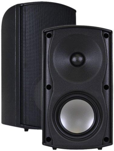 Osd Audio Ap490 Black 4-Inch Indoor Or Outdoor 100-Watt Patio Speaker Pair front-520319