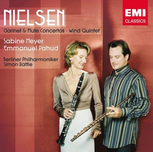 Nielsen - Concertos pour clarinette pour flûte, 5t à vents 51woSJcAk5L