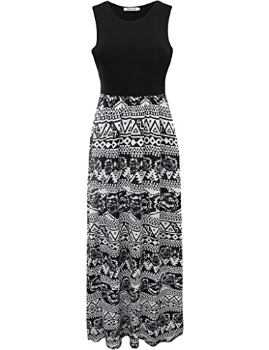 Aphratti-Womens-Bohemian-Sleeveless-Maxi-Long-Dress-with-Elastic-Waistband