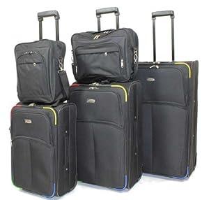 Kofferset - Koffer - Trolley 5-teilig - Allrounder schwarz/bunt