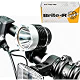 Brite-R® Uno CREE XM-L T6 LED Bicycle Front Head Light inc. 6000mAh Rechargeable Battery + Charger