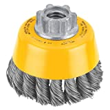 Home Improvement - DEWALT DW4910 3-Inch by 5/8-Inch-11 Knotted Cup Brush/Carbon Steel .020-Inch