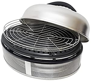 COBB Supreme Charcoal Tabletop Grill & BBQ - Comes with Bag & Roast Rack - Stainless Steel from COBB INTERNATIONAL Ltd