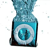 Blue UNDERWATER AUDIO 100% Waterproof iPod Shuffle. Click on SPECIAL OFFERS AVAILABLE for discounted waterproof headphones offer. Add headphone to cart to activate offer.