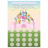 A4 Princess Castle Reward Chart and 35 Matching Stickers