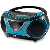 Metronic 477118 Sportsman Lecteur CD MP3 Port USB Radio noir et bleu