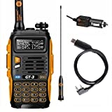 Baofeng PoFung GT-3 Mark-II Transceiver, FM Radio, Dual Band 136-174/400-520 MHz, Chipsets Upgraded, ABS Frame + Programming Cable