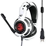 Vibration Gaming Headphone LED USB Surround Stereo Game Headset Noise Canceling Extreme Bass With Microphone XSOUL V7