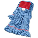 UNISAN Super Loop Wet Mop Head, Cotton/Synthetic, Large Size, Blue (503BL)