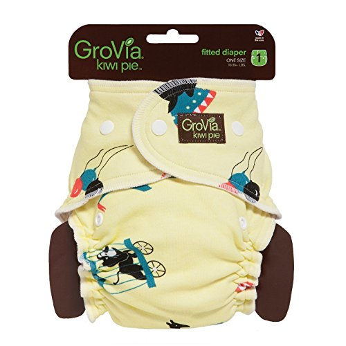 Grovia Kiwi Pie Fitted-Diaper - Circus front-578942