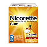 Nicorette Stop Smoking Aid, 2 mg, Gum, Fruit Chill, 160 pieces