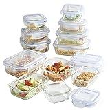 VonShef 24-Piece Glass Container Food Storage Set