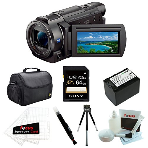 sony fdr ax33 b fdr ax33b fdr ax33 4k camcorder with 64 gb. Black Bedroom Furniture Sets. Home Design Ideas