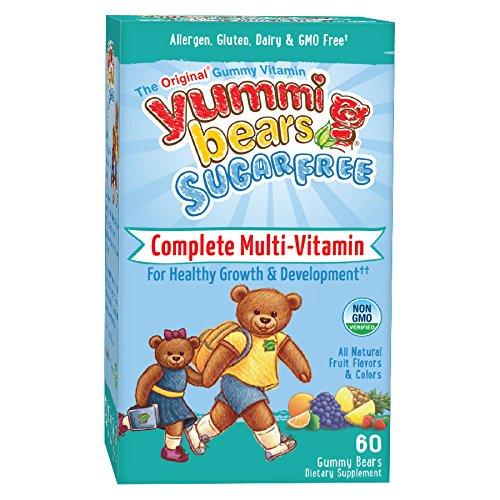 Yummi Bears Sugar Free  Multivitamin and Mineral for Kids, 60 Gummy Bears