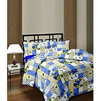 SVT Blue Checks Ac Blanket (Material-polycotton, Size- DOUBLE BED)