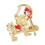 Feng Shui Pi Yao Pixiu W Flaming Sword Keychain Charm Handbag Hanging Amulet + Free Red String Bracelet W1112