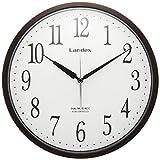 LANDEX(ランデックス) 電波壁掛け時計 スタンダード ステップ秒針 ダークブラウン YW9126DBR
