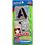Letters Numbers Shapes Stencil Kit 60 Reusable Stencils Stencil Brush