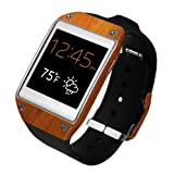 Skinomi® TechSkin - Samsung Galaxy Gear Screen Protector + Light Wood Full Body Skin Protector / Front & Back Premium HD Clear Film / Ultra High Definition Invisible and Anti Bubble Crystal Shield with Free Lifetime Replacement Warranty - Retail Packaging