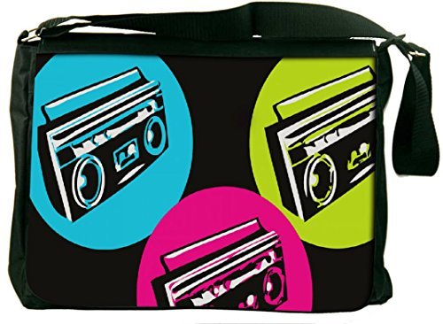 Snoogg Boombox Colourful Computer Padded