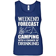 Weekend Forecast Camping With A Chance Of Drinking Women's Tank Top