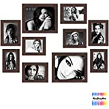 Wall Frame Set Of 10 Photo Frame In Brown Colour | Four Pcs Of 6 X 4 Inch | Four Pcs Of 5 X 7 Inch | Two Pcs Of...