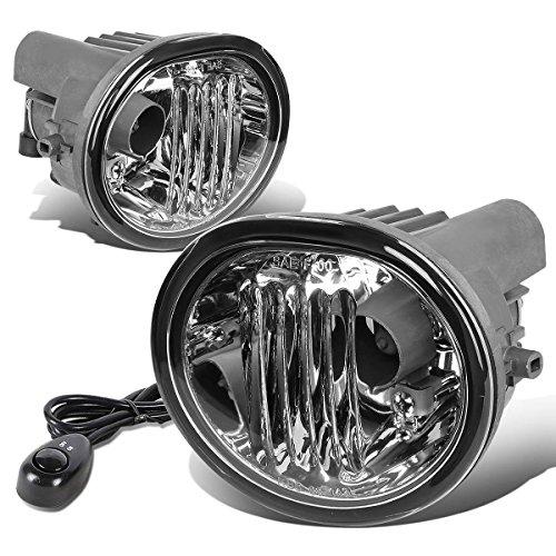 Scion tC / Toyota Matrix / Pontiac Vibe Pair of Bumper Fog Lights + Switch (Clear Lens) (Fog Light Pontiac Vibe compare prices)