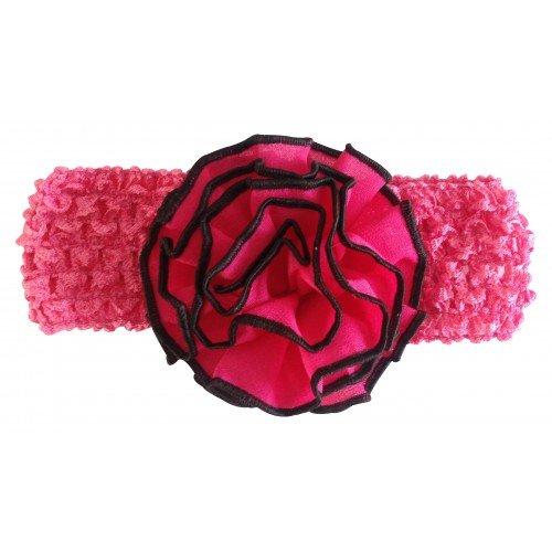 PinkXenia Ruffles Flower Knitting Crochet Weave NewBorn BabyGirl Soft Headband
