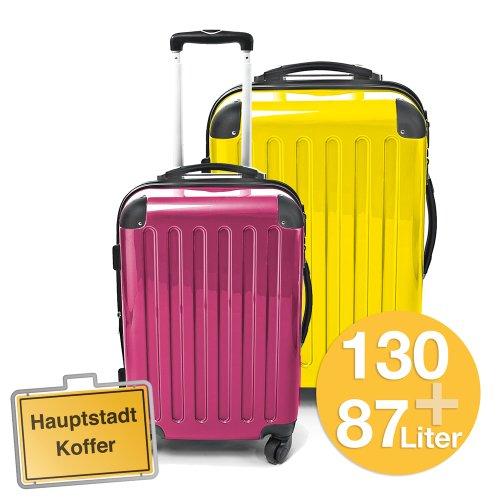 HAUPTSTADTKOFFER 2er Set (87Liter Magenta/130Liter