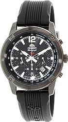 Orient Men's Sp TW01002B Black Silicone Quartz Watch